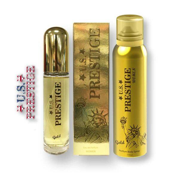 U.S. Prestige Gold 50ml EDP + 150ml Body Spray