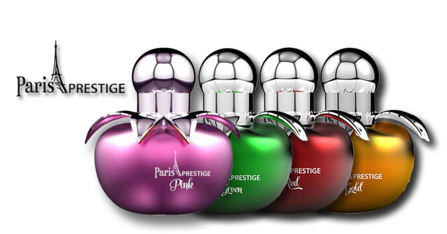 Paris Prestige Apple Green + Gold + Red + Pink EDP